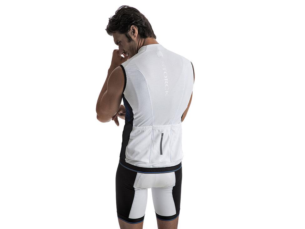Short Sleeveless Jersey Comp white