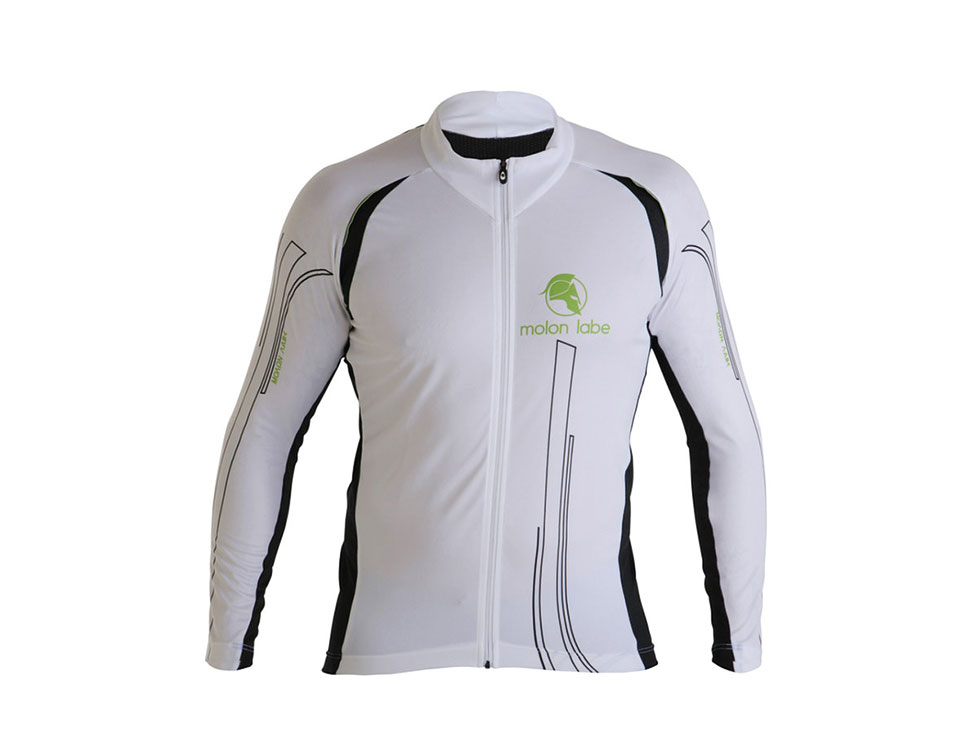 E Cycle Jersey Longsleeve white