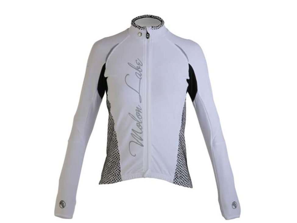 Womens Cycle Jersey longsleeve white
