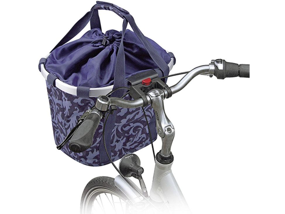 Klickfix Bikebasket barock-blau