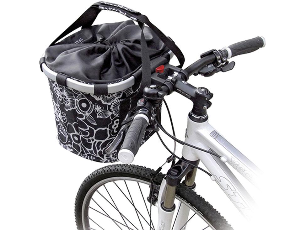 Klickfix Bikebasket flower schwarz