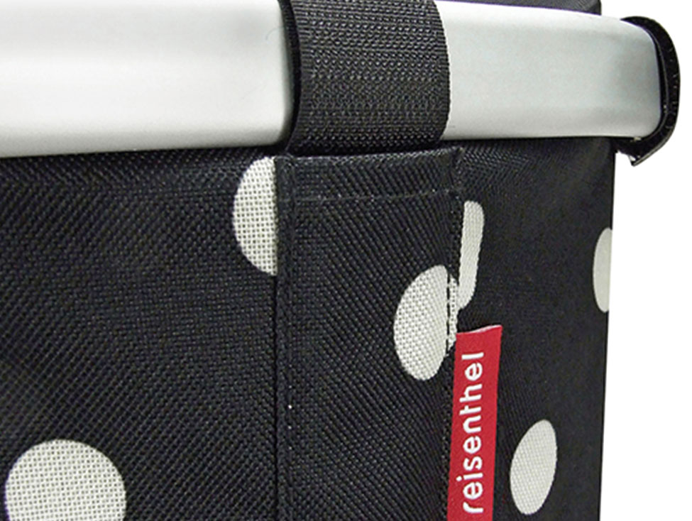Klickfix Bikebasket black dots