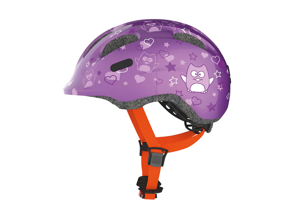 Abus Kinderhelm SMILEY Purple Star