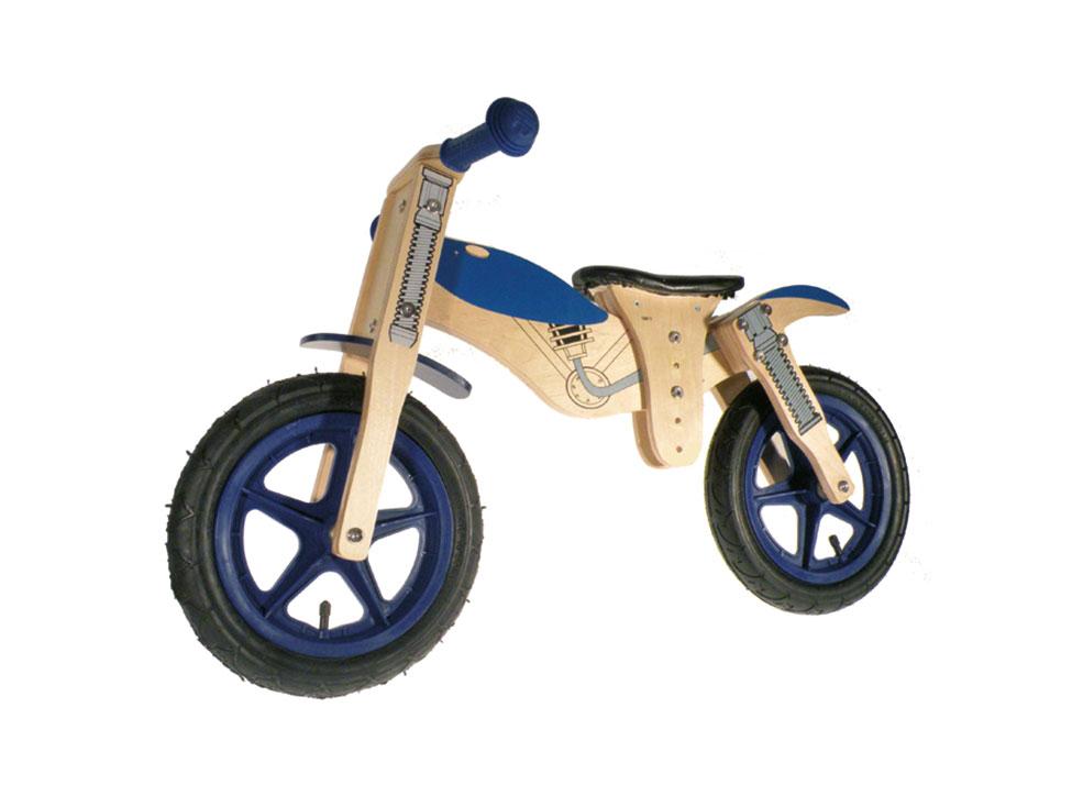 Kinderholzrad Motorrad