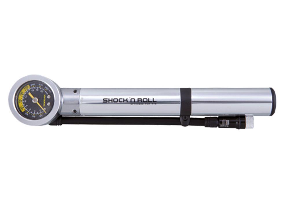 Topeak Pumpe SHOCK'N ROLL Alu mit Manometer