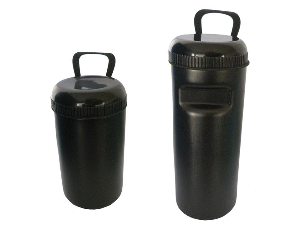 Werkzeugbidon ø 70mm x 140mm oder 190mm schwarz